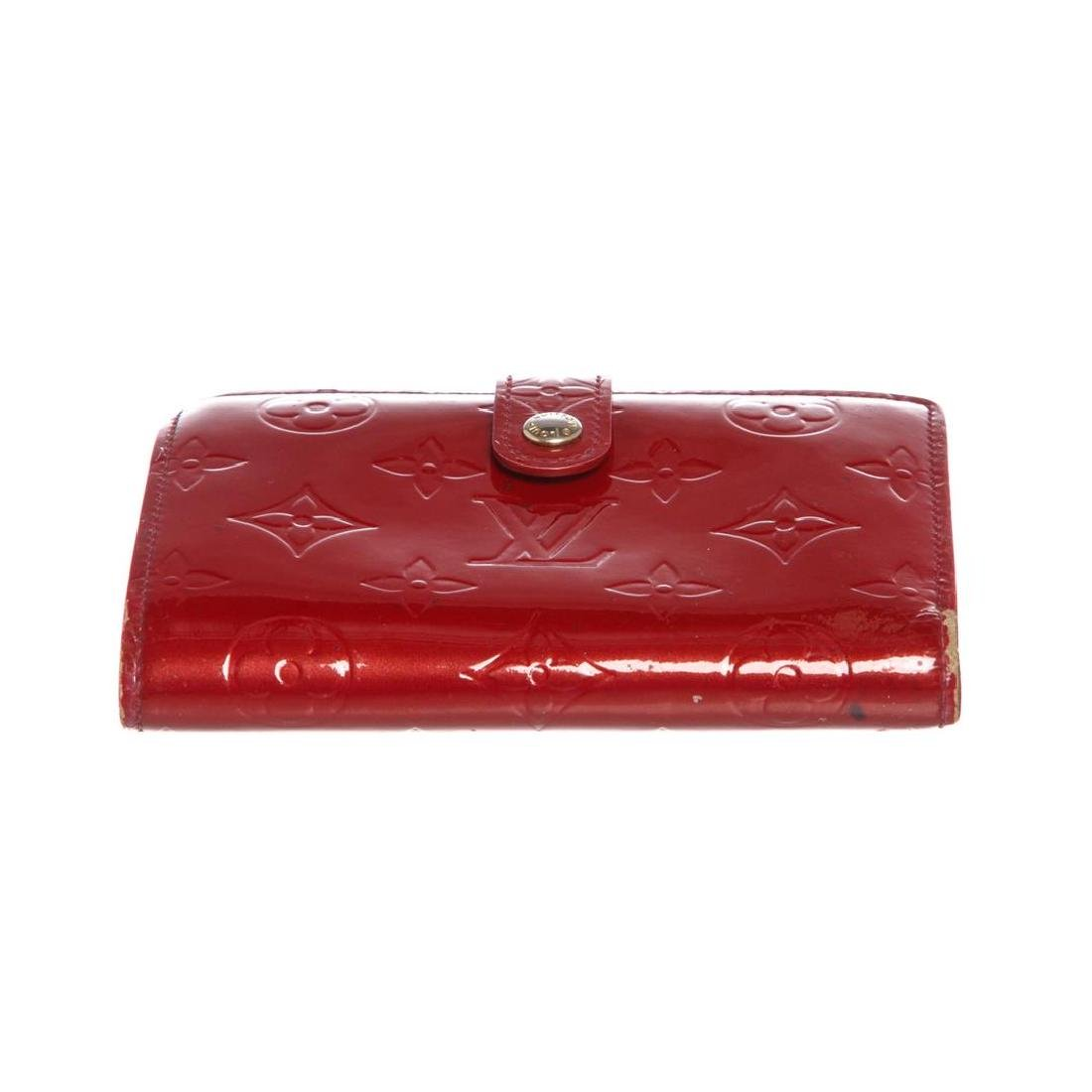 Louis Vuitton Red Vernis Monogram French Wallet - 4