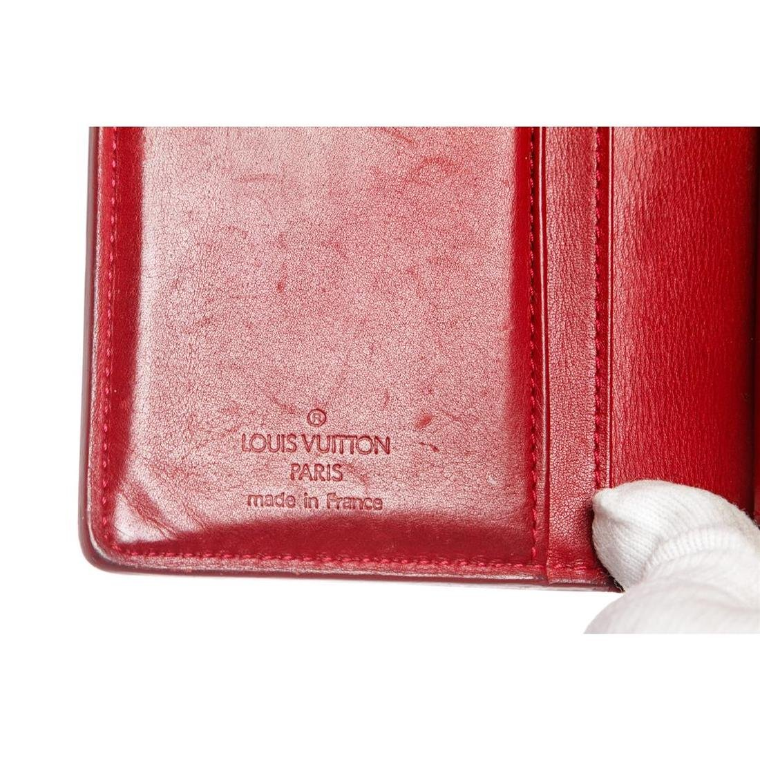 Louis Vuitton Red Vernis Monogram French Wallet - 7