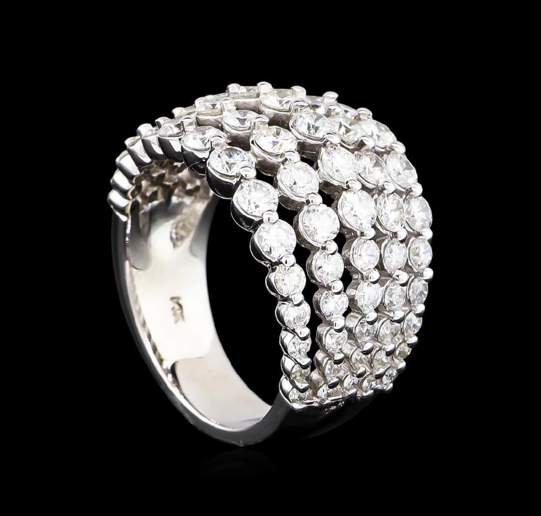 2.61 ctw Diamond Ring - 14KT White Gold - 4
