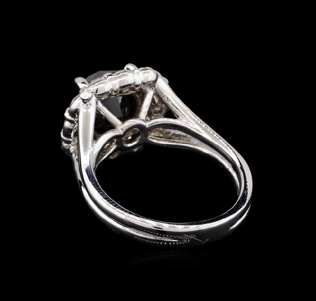 4.25 ctw Black Diamond Ring - 14KT White Gold - 3