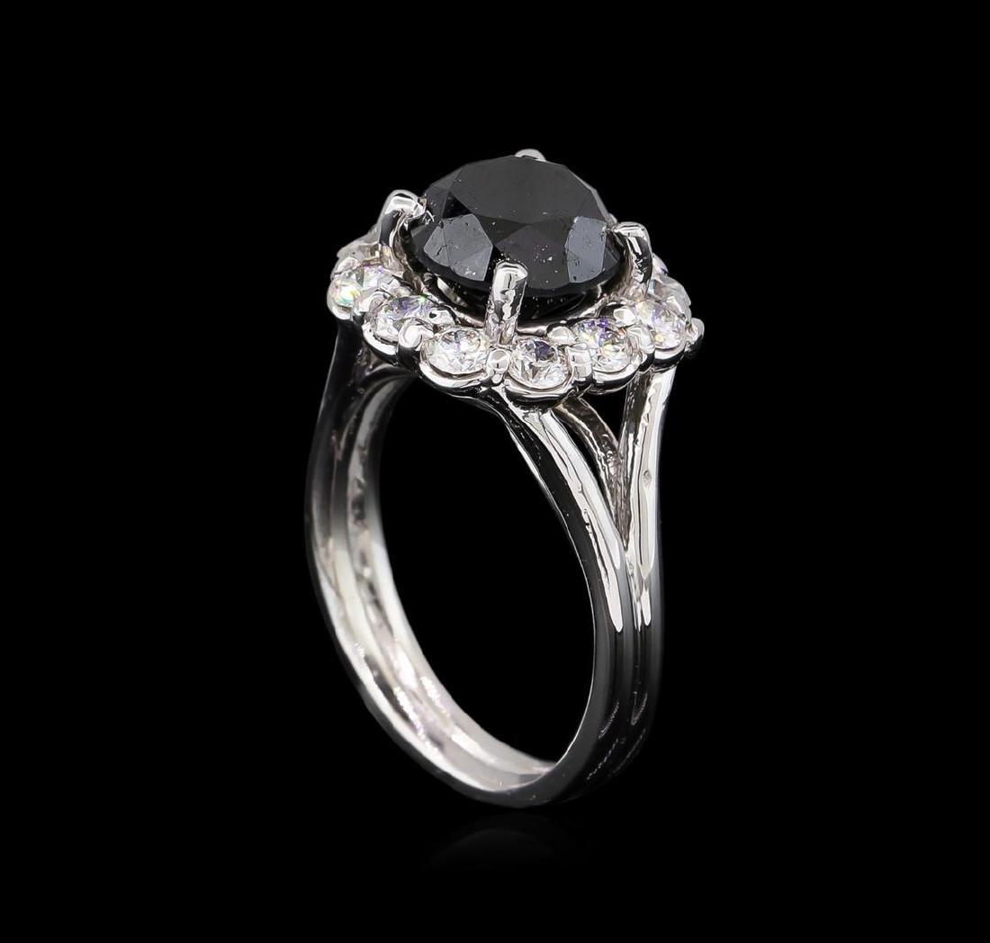 4.25 ctw Black Diamond Ring - 14KT White Gold - 4