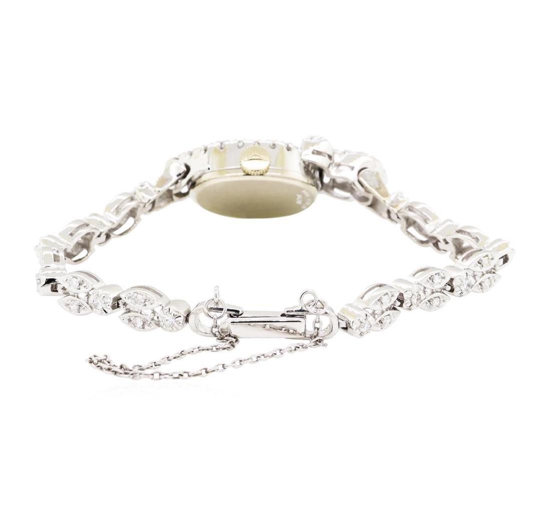 1.06 ctw Diamond Longines Lady's Wrist Watch - 3