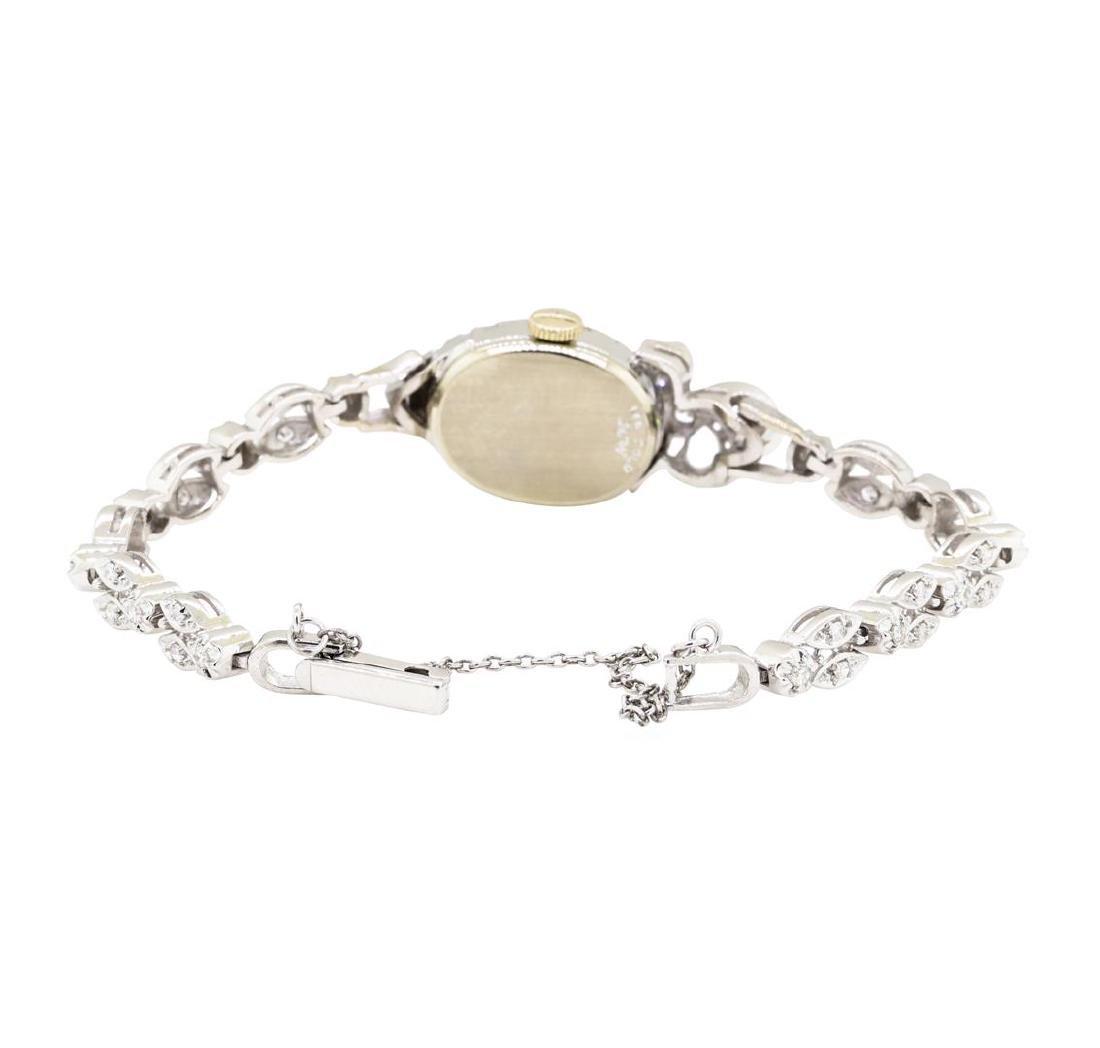 1.06 ctw Diamond Longines Lady's Wrist Watch - 4