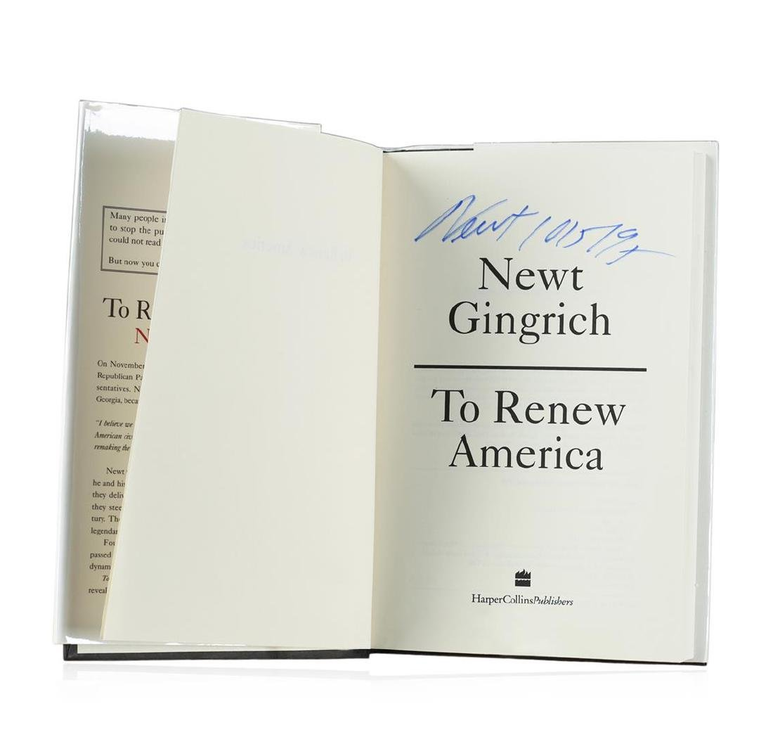 Signed Copy of To Renew America by Newt Gingrich - 2