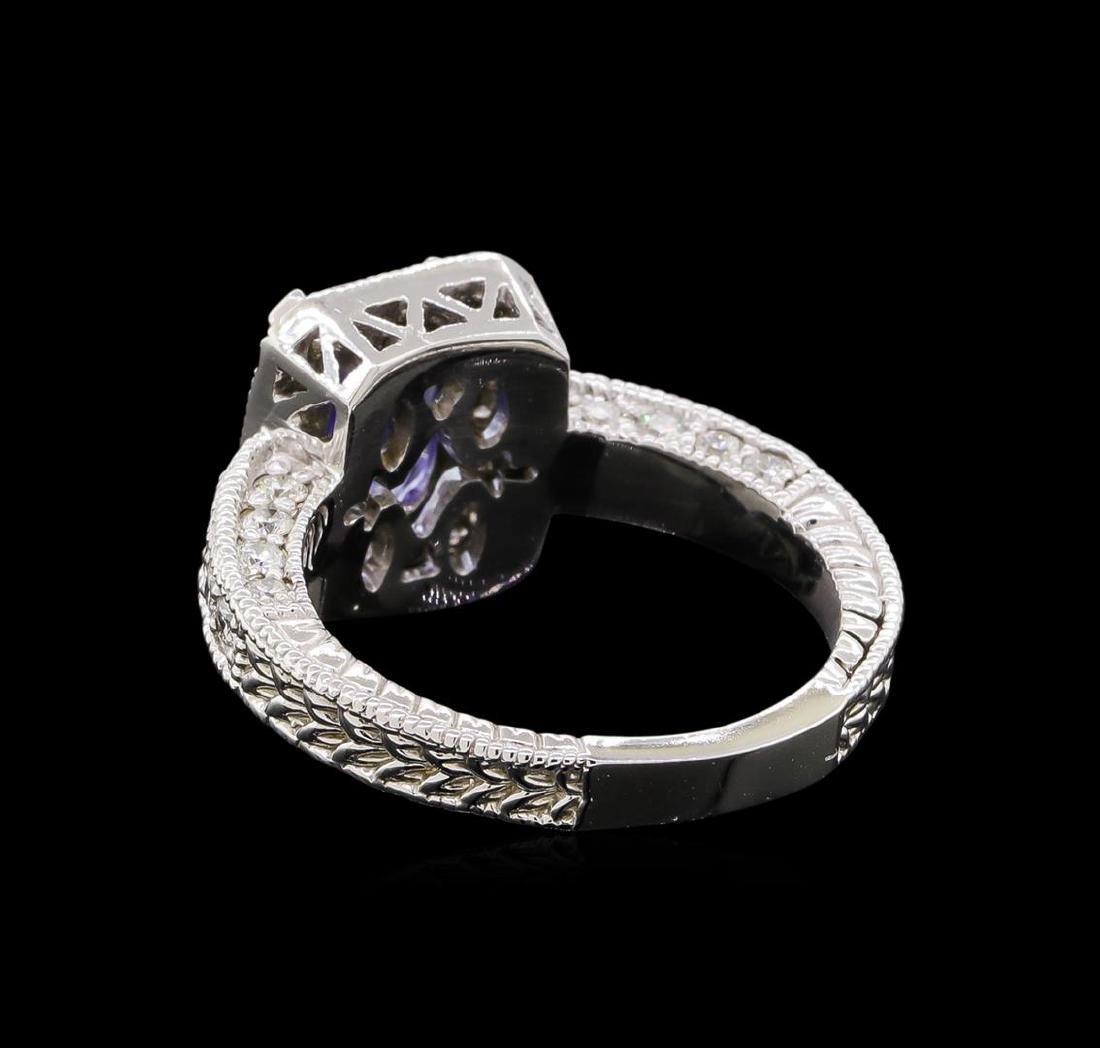 14KT White Gold 1.54 ctw Tanzanite and Diamond Ring - 3