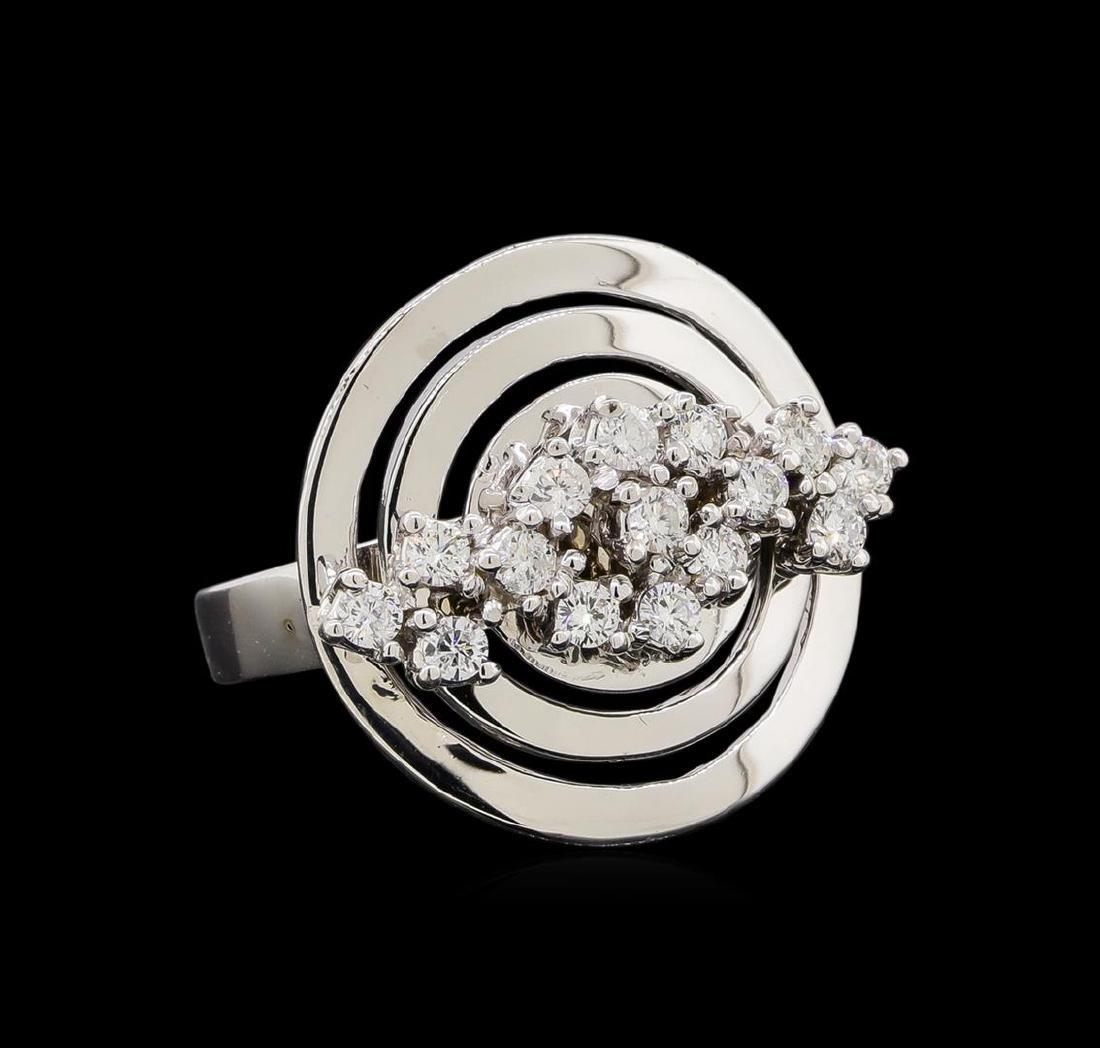 14KT White Gold 0.51 ctw Diamond Ring