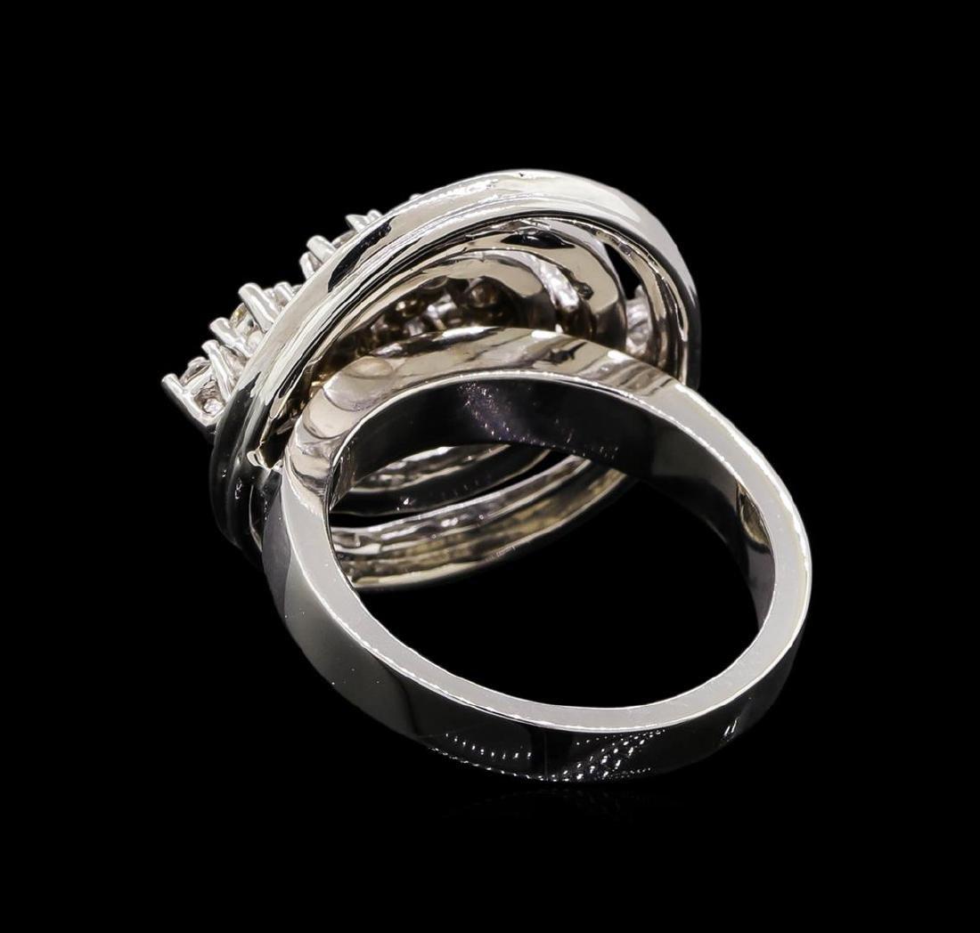14KT White Gold 0.51 ctw Diamond Ring - 3