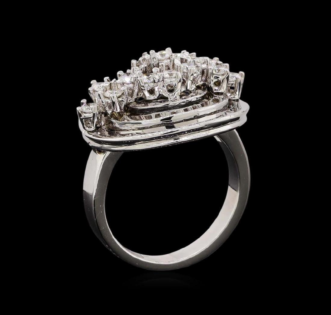 14KT White Gold 0.51 ctw Diamond Ring - 4