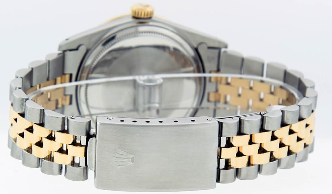 Rolex Mens 2 Tone 14K Silver Diamond & Ruby Datejust - 4
