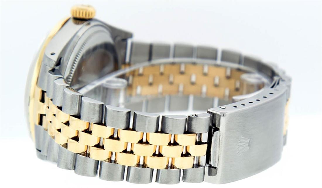 Rolex Mens 2 Tone 14K Silver Diamond & Ruby Datejust - 5