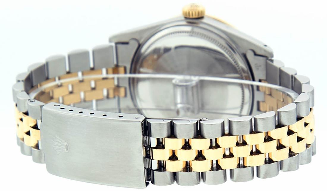 Rolex Mens 2 Tone 14K Silver Diamond & Ruby Datejust - 6