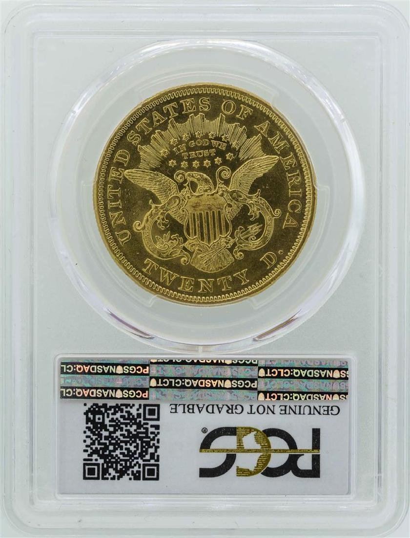 1872 $20 Liberty Head Double Eagle Gold Coin PCGS - 2