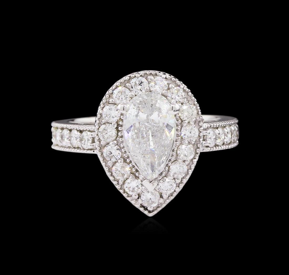 1.88 ctw Diamond Ring - 14KT White Gold - 2