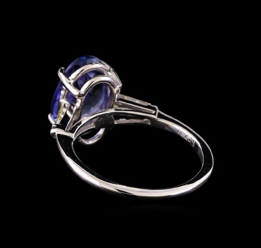14KT White Gold 3.35 ctw Tanzanite and Diamond Ring - 3