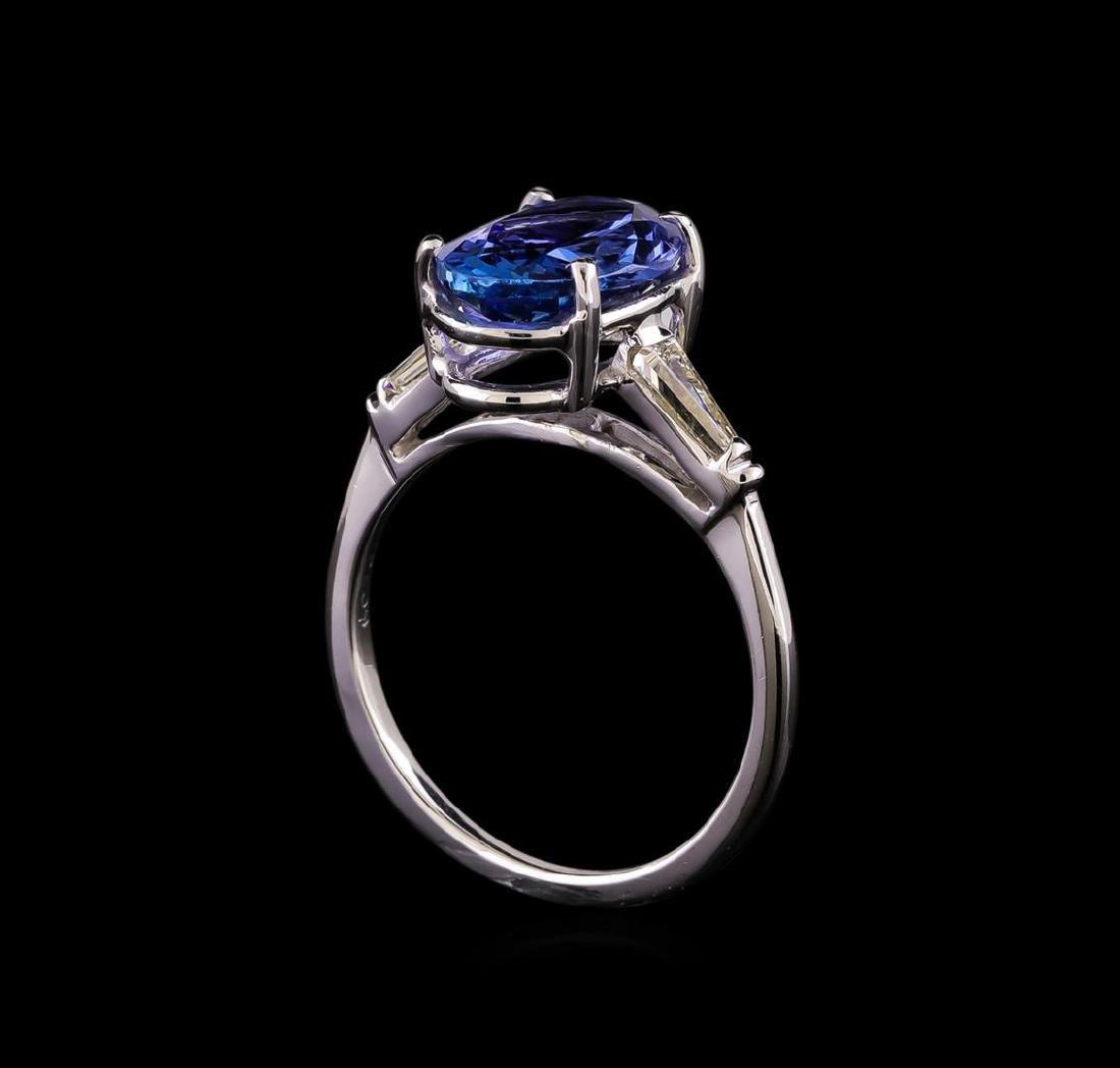 14KT White Gold 3.35 ctw Tanzanite and Diamond Ring - 4