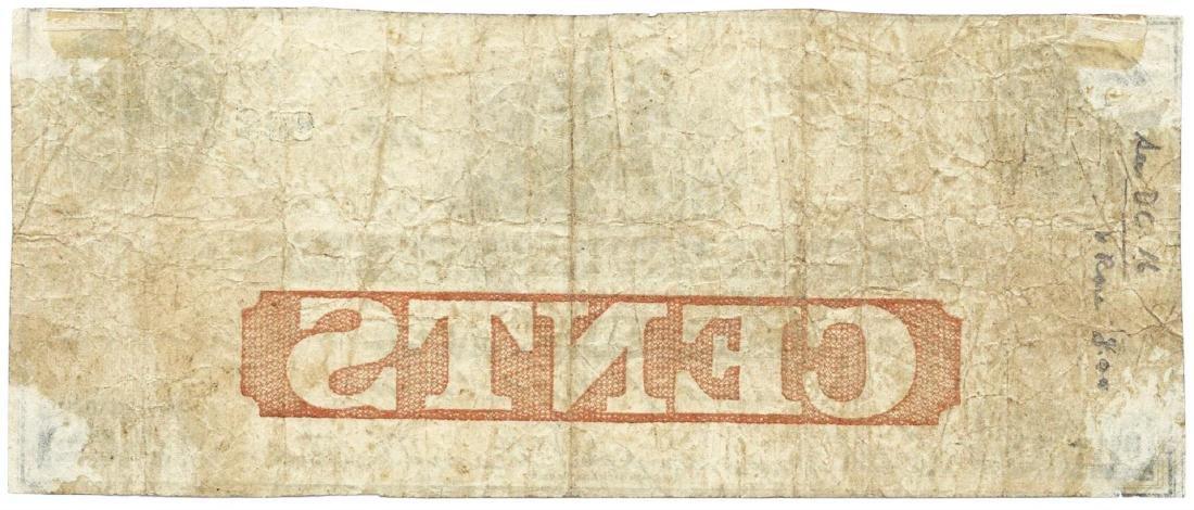 1862 25 cents Farmers Merchant Bank, Washington DC - 2