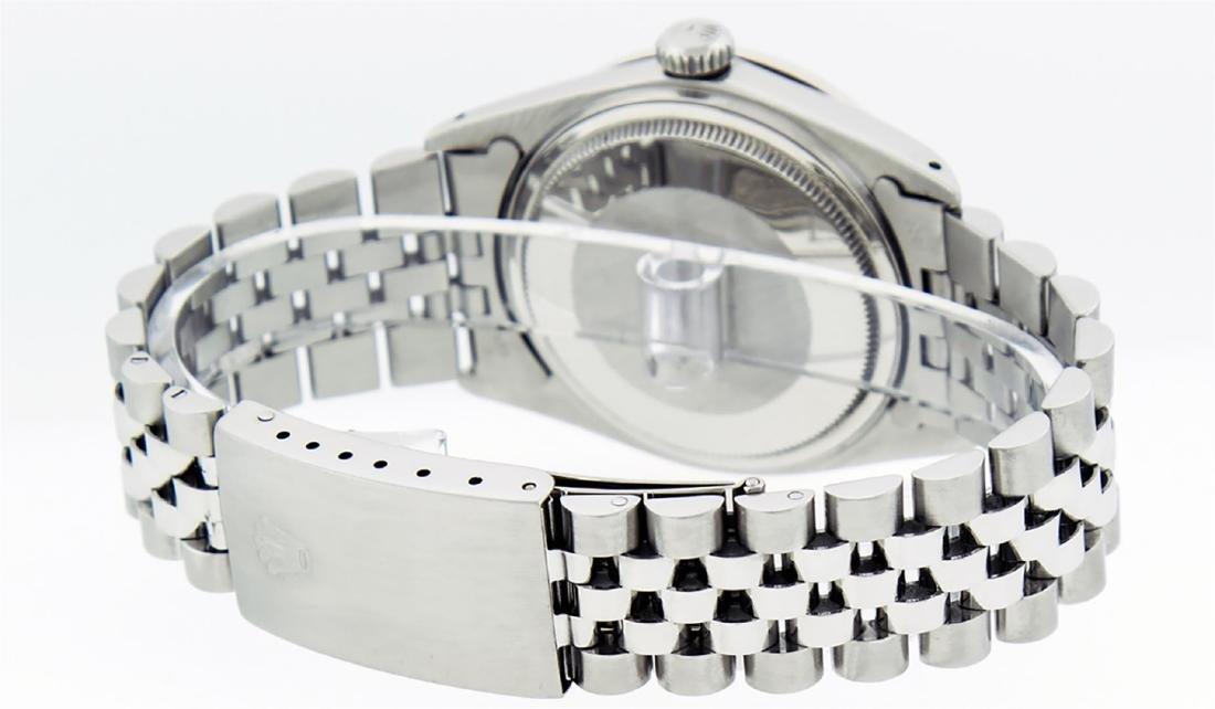 Rolex Mens Stainless Slate Grey Diamond 36MM Datejust - 4