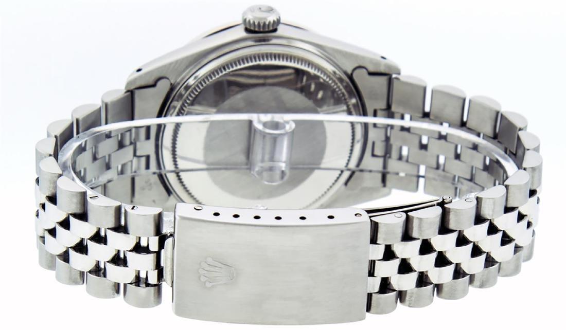 Rolex Mens Stainless Slate Grey Diamond 36MM Datejust - 5