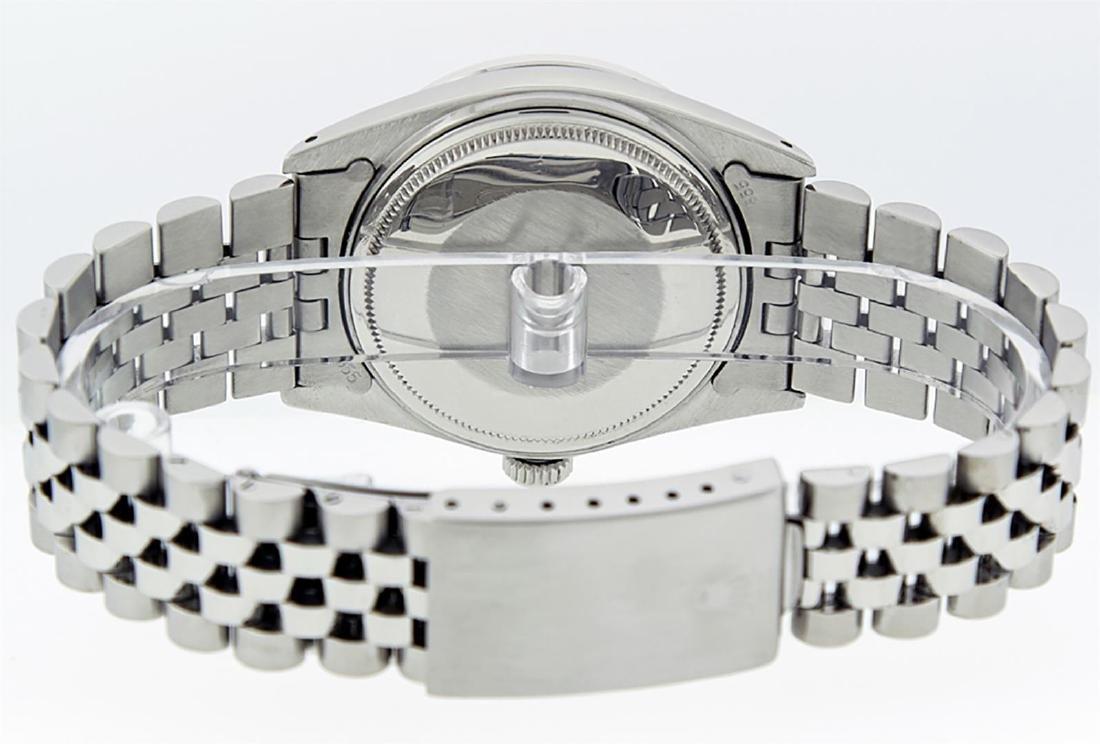 Rolex Mens Stainless Slate Grey Diamond 36MM Datejust - 6