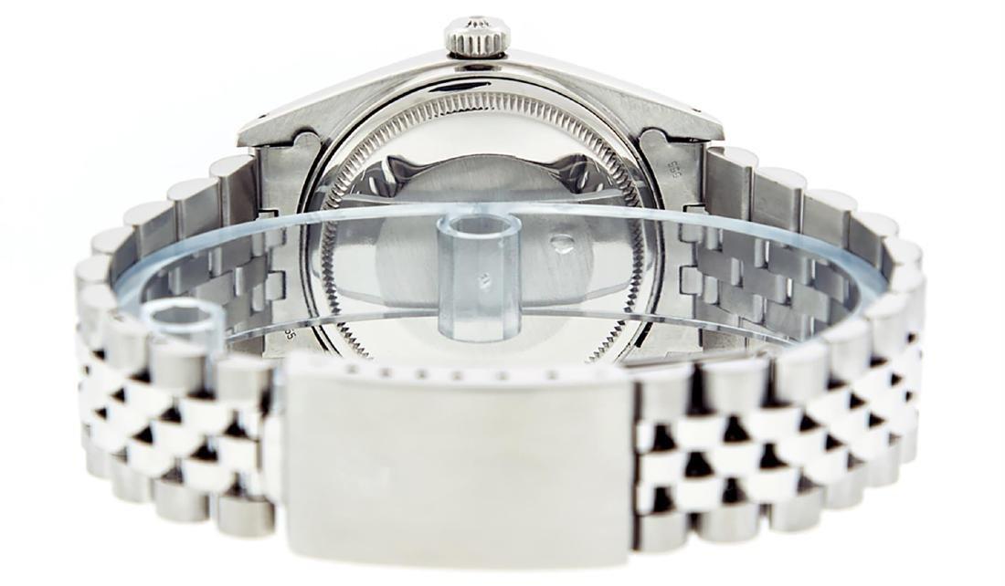 Rolex Mens Stainless Slate Grey Diamond 36MM Datejust - 7