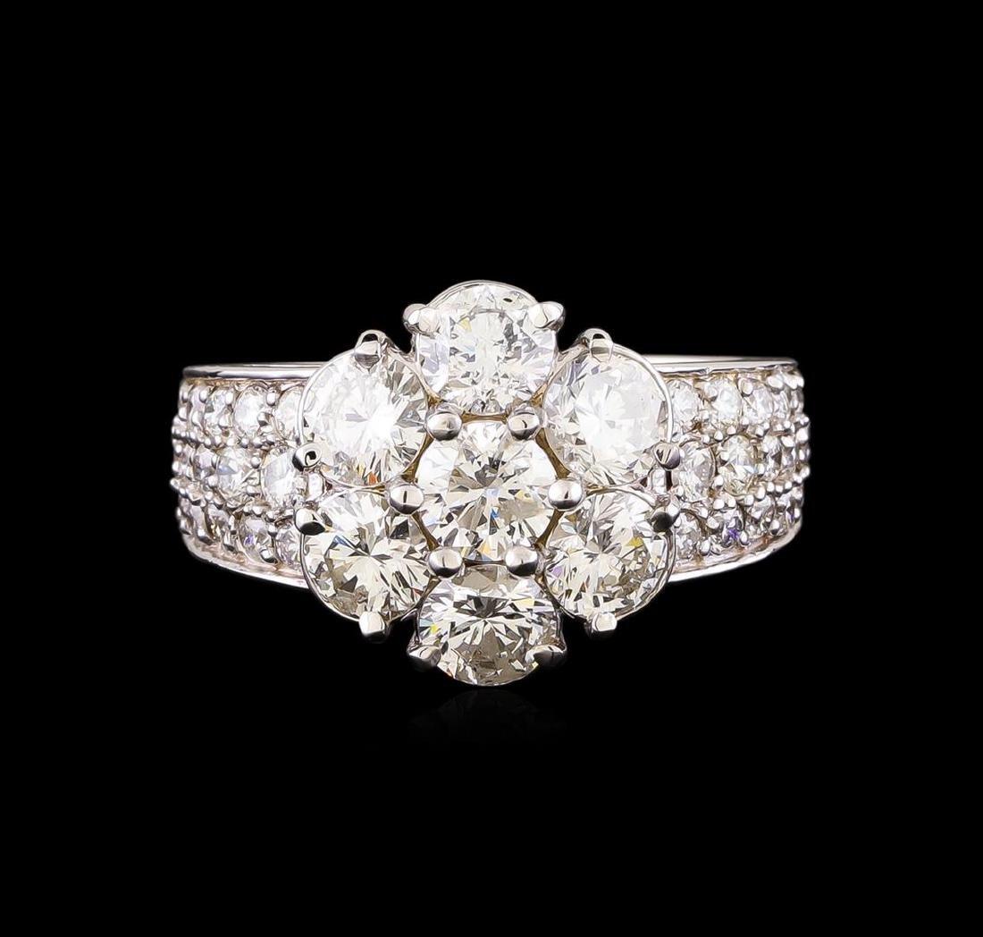 14KT White Gold 2.42 ctw Diamond Ring - 2