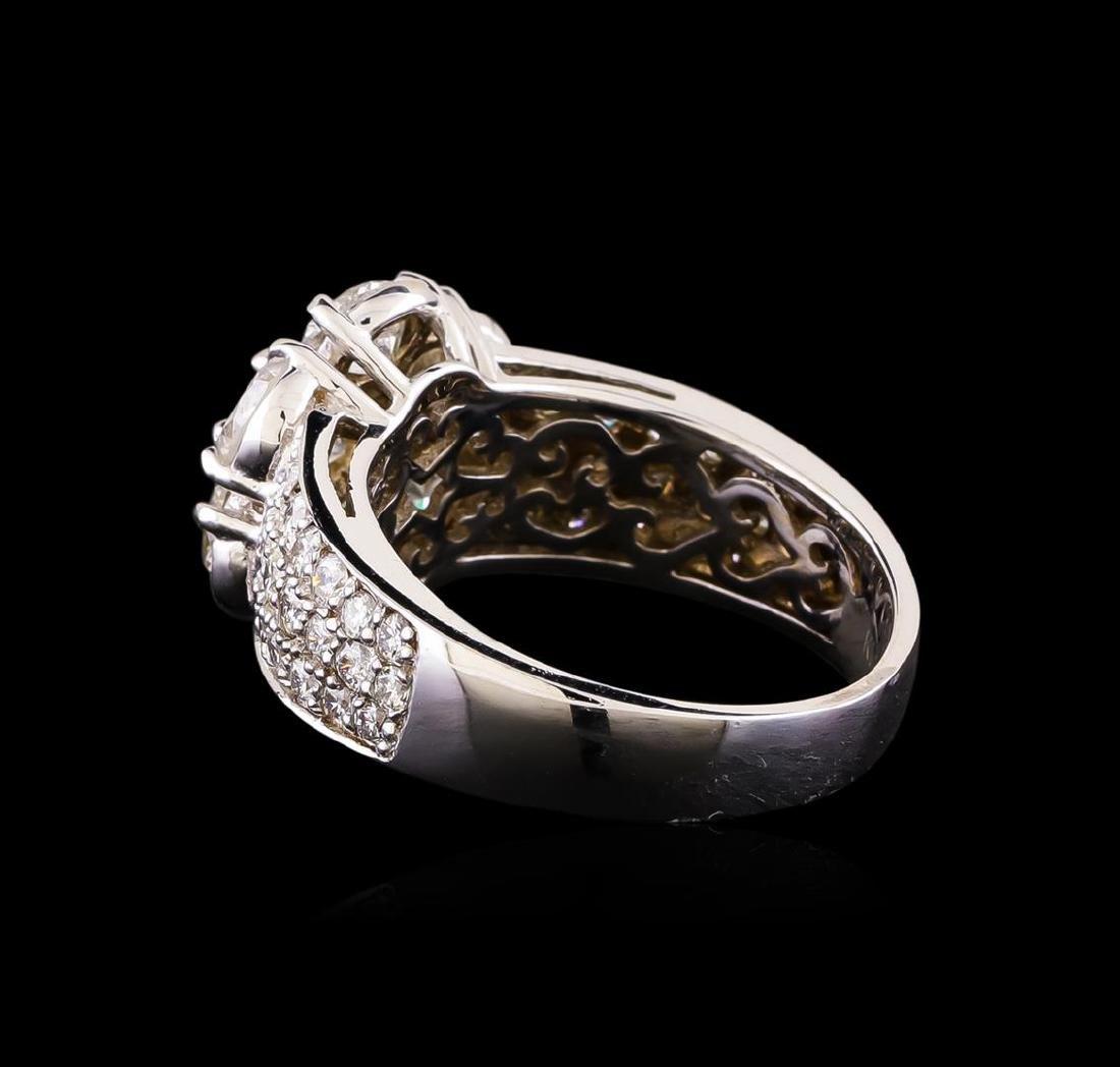 14KT White Gold 2.42 ctw Diamond Ring - 3
