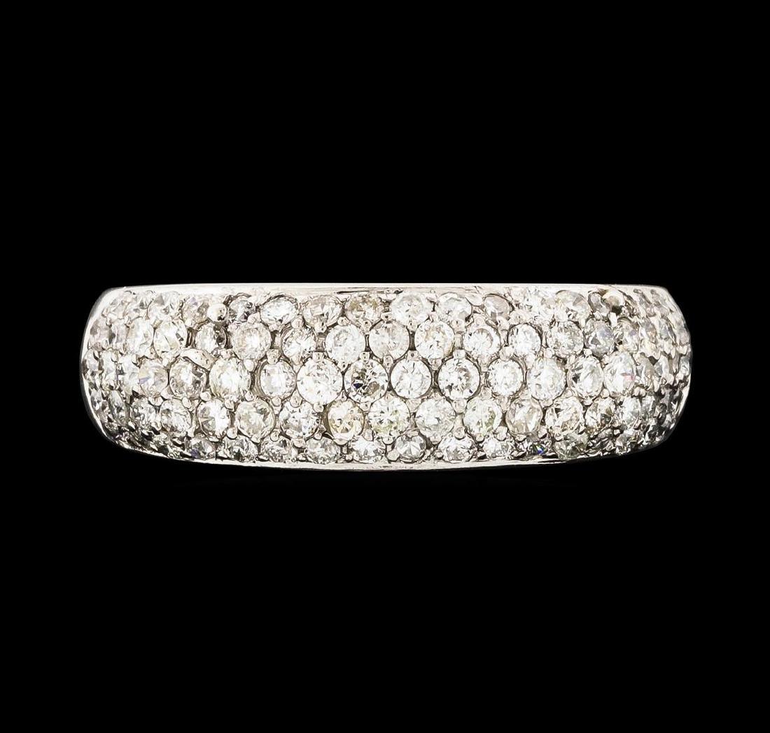 0.95 ctw Diamond Ring - 18KT White Gold - 2