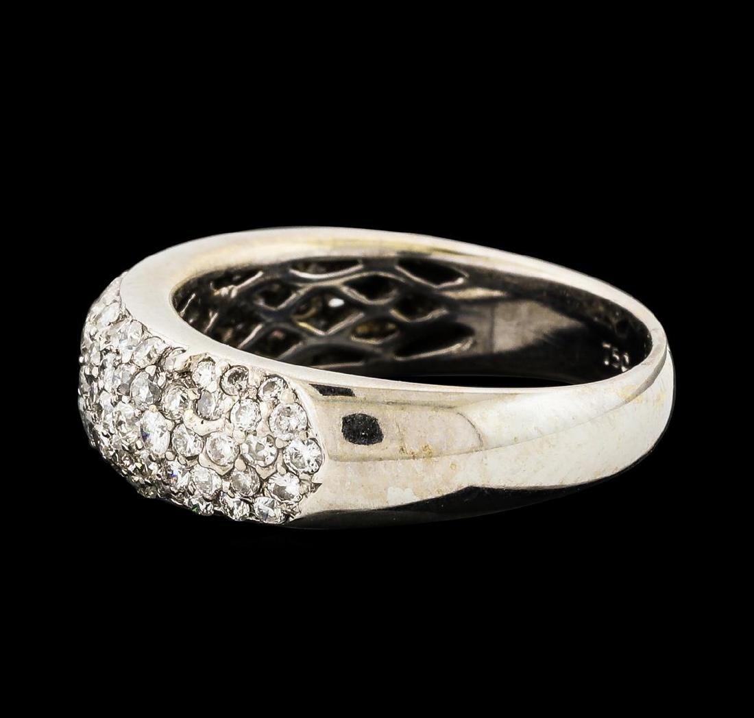 0.95 ctw Diamond Ring - 18KT White Gold - 3