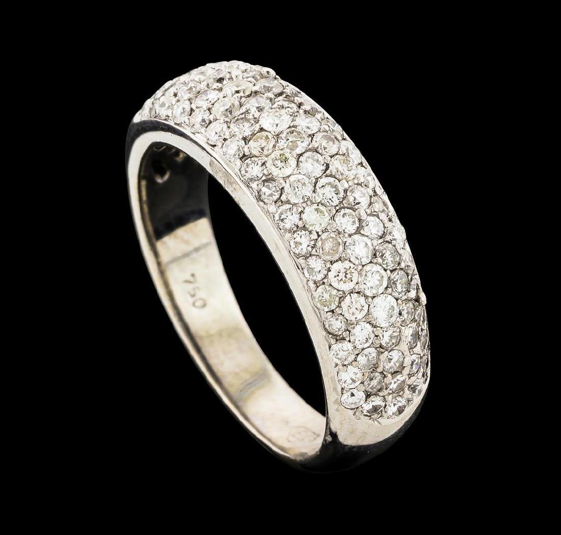 0.95 ctw Diamond Ring - 18KT White Gold - 4