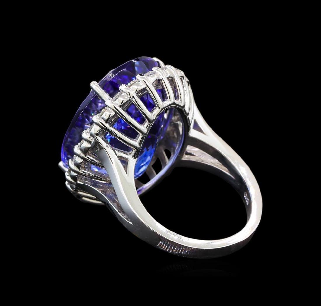GIA Cert 26.53 ctw Tanzanite and Diamond Ring - 14KT - 3