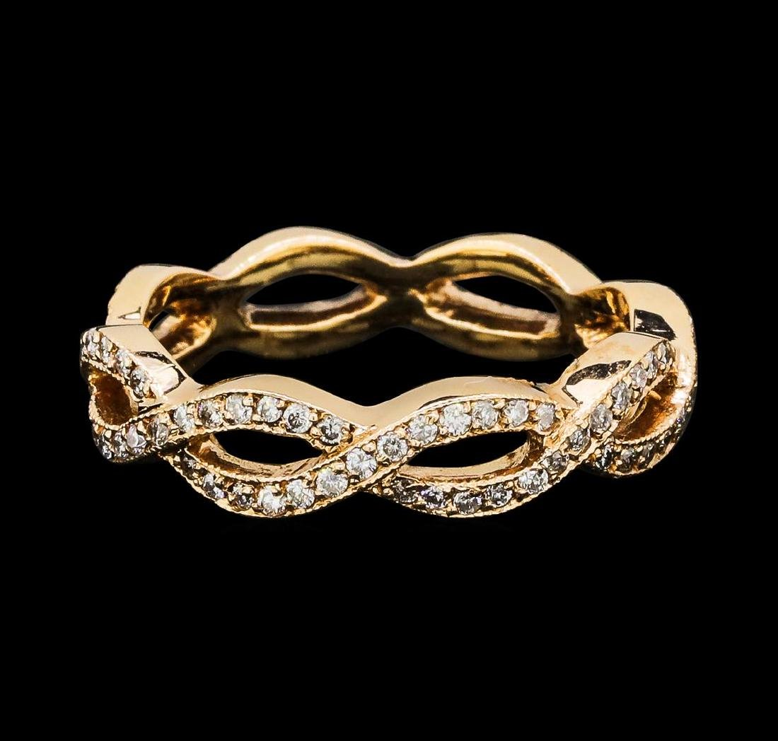 0.75 ctw Diamond Eternity Ring - 14KT Rose Gold - 2
