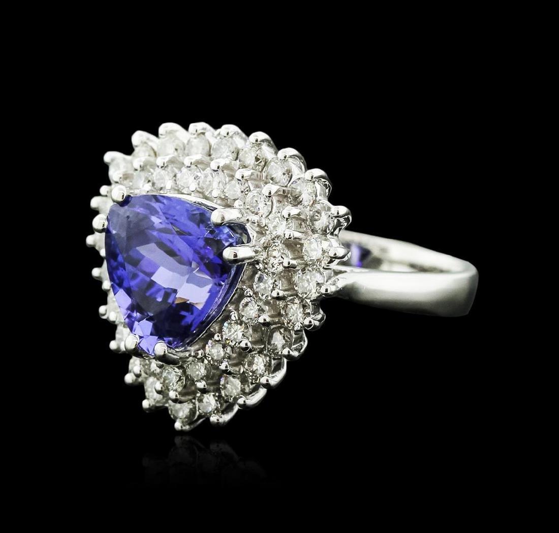14KT White Gold 4.94 ctw Tanzanite and Diamond Ring