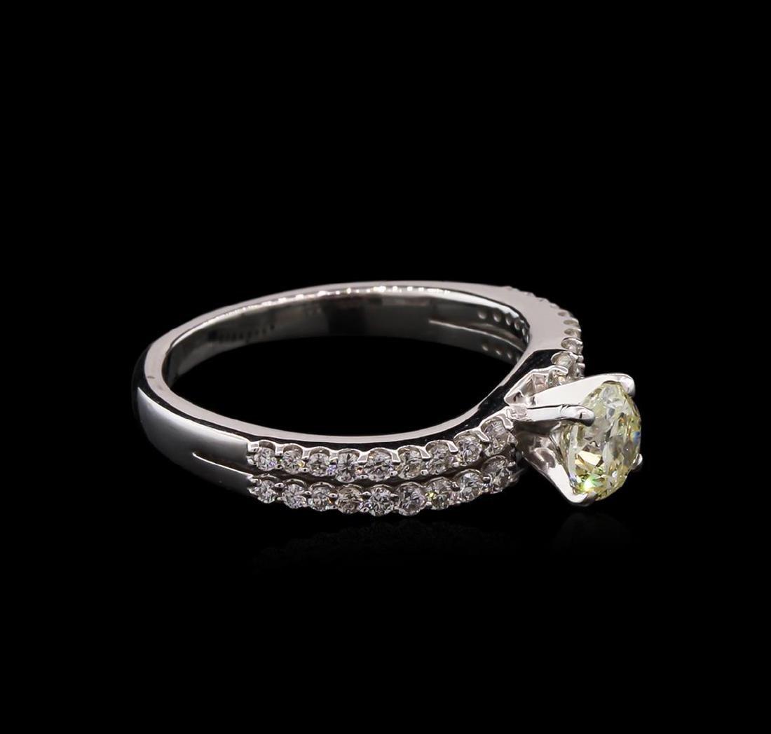 1.06 ctw Diamond Ring - 14KT White Gold - 2