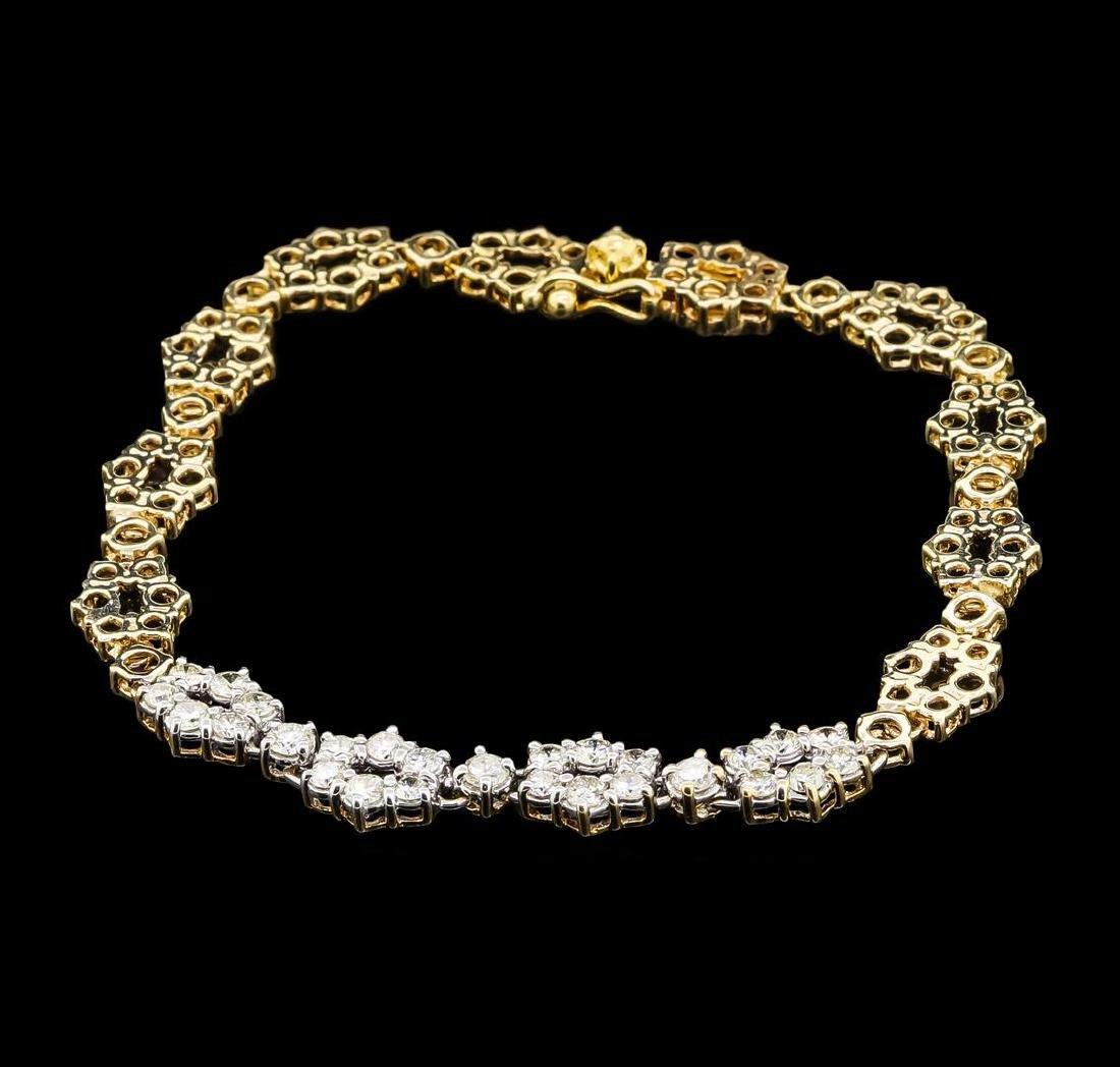 1.00 ctw Diamond Bracelet - 14KT Yellow Gold