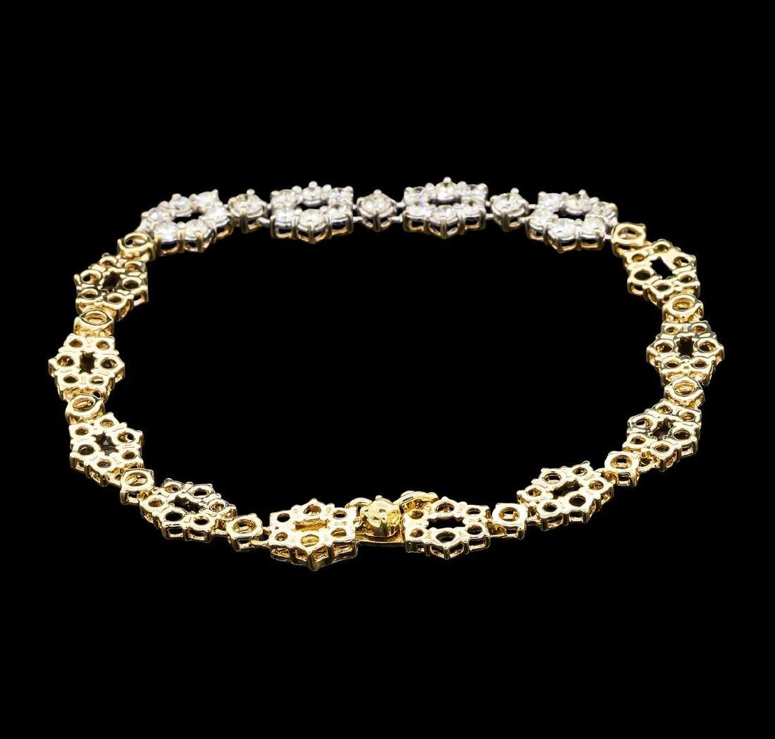 1.00 ctw Diamond Bracelet - 14KT Yellow Gold - 2