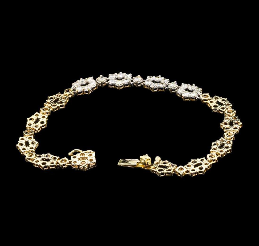 1.00 ctw Diamond Bracelet - 14KT Yellow Gold - 3
