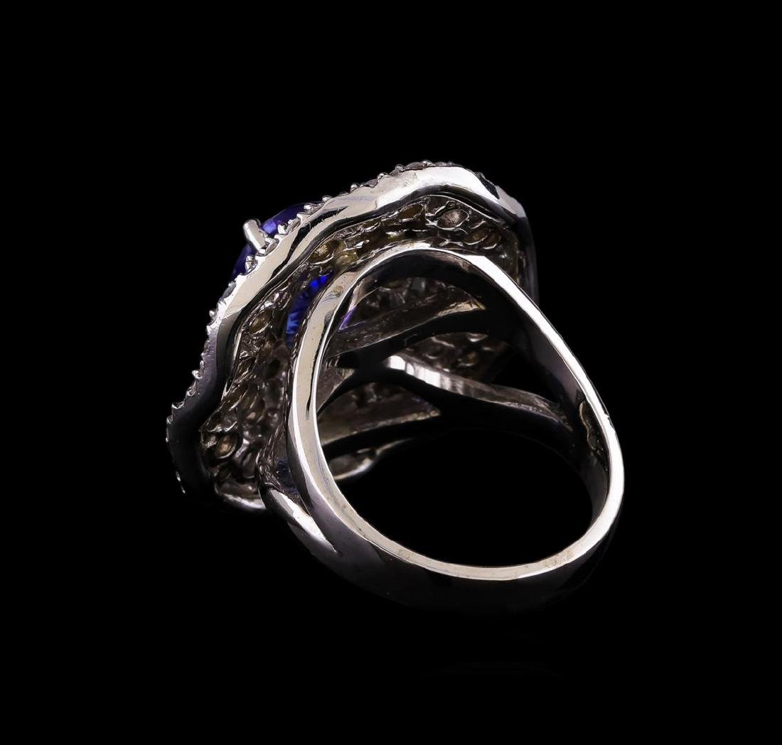 14KT White Gold 2.55 ctw Tanzanite and Diamond Ring - 3