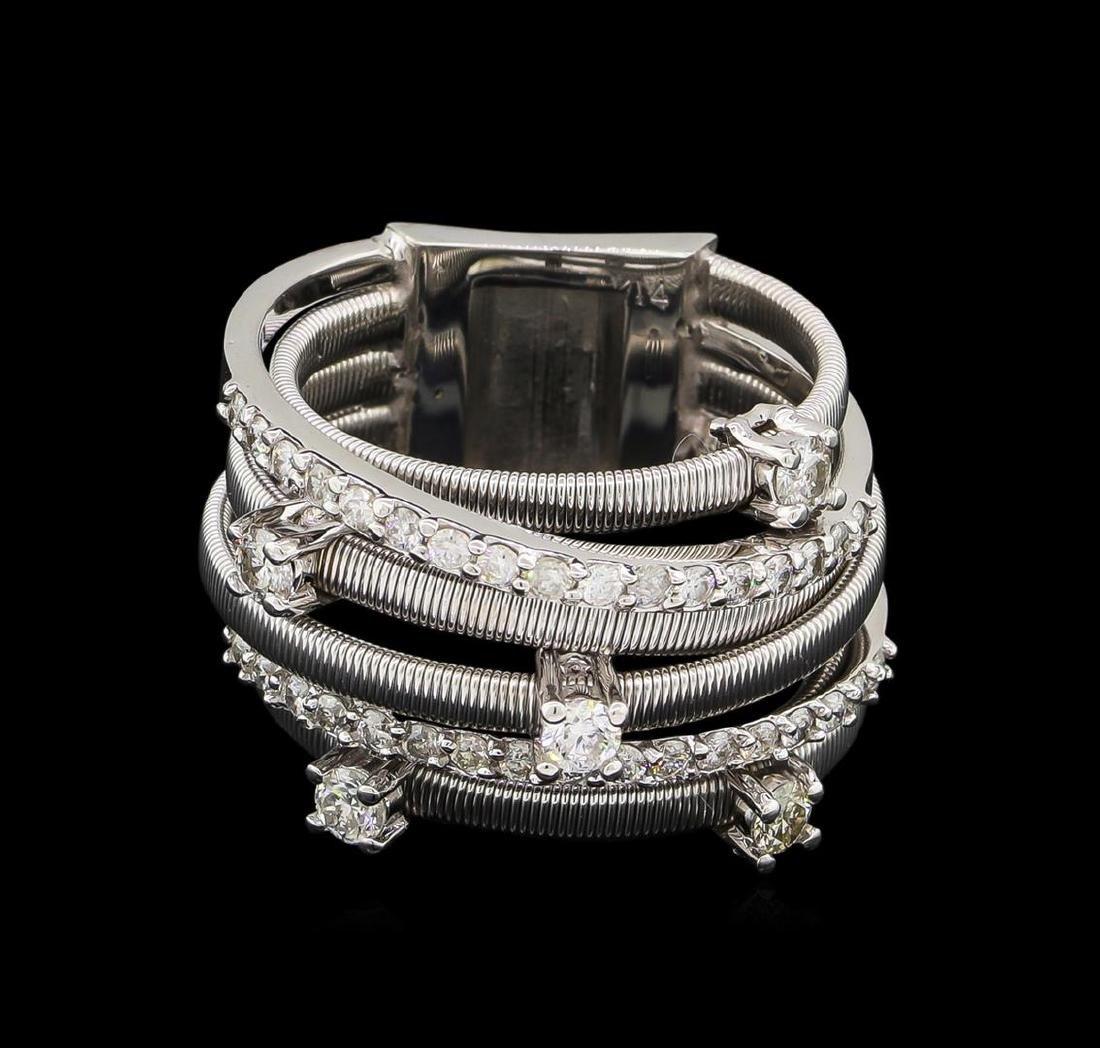 0.75 ctw Diamond Ring - 14KT White Gold - 2