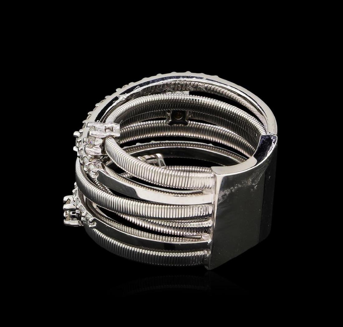 0.75 ctw Diamond Ring - 14KT White Gold - 3