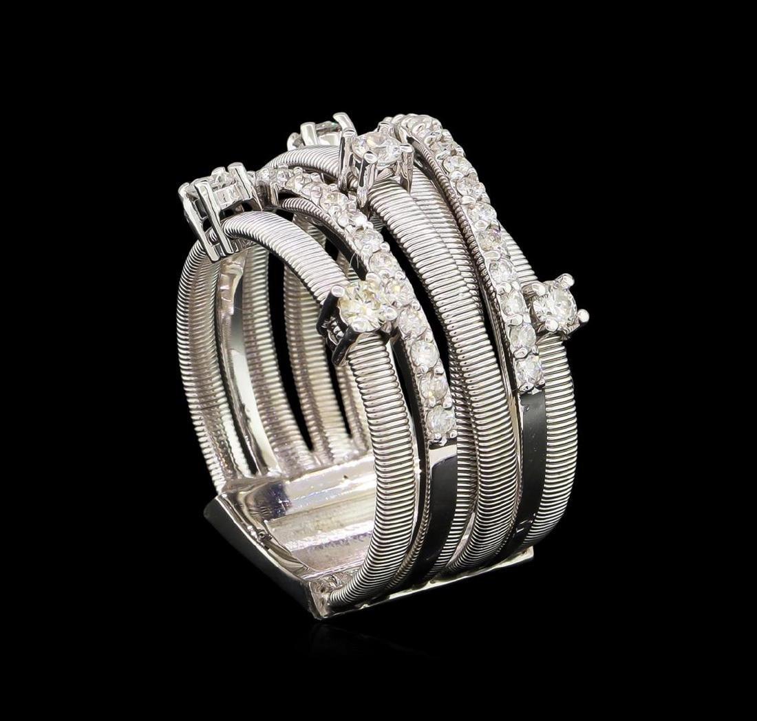 0.75 ctw Diamond Ring - 14KT White Gold - 4