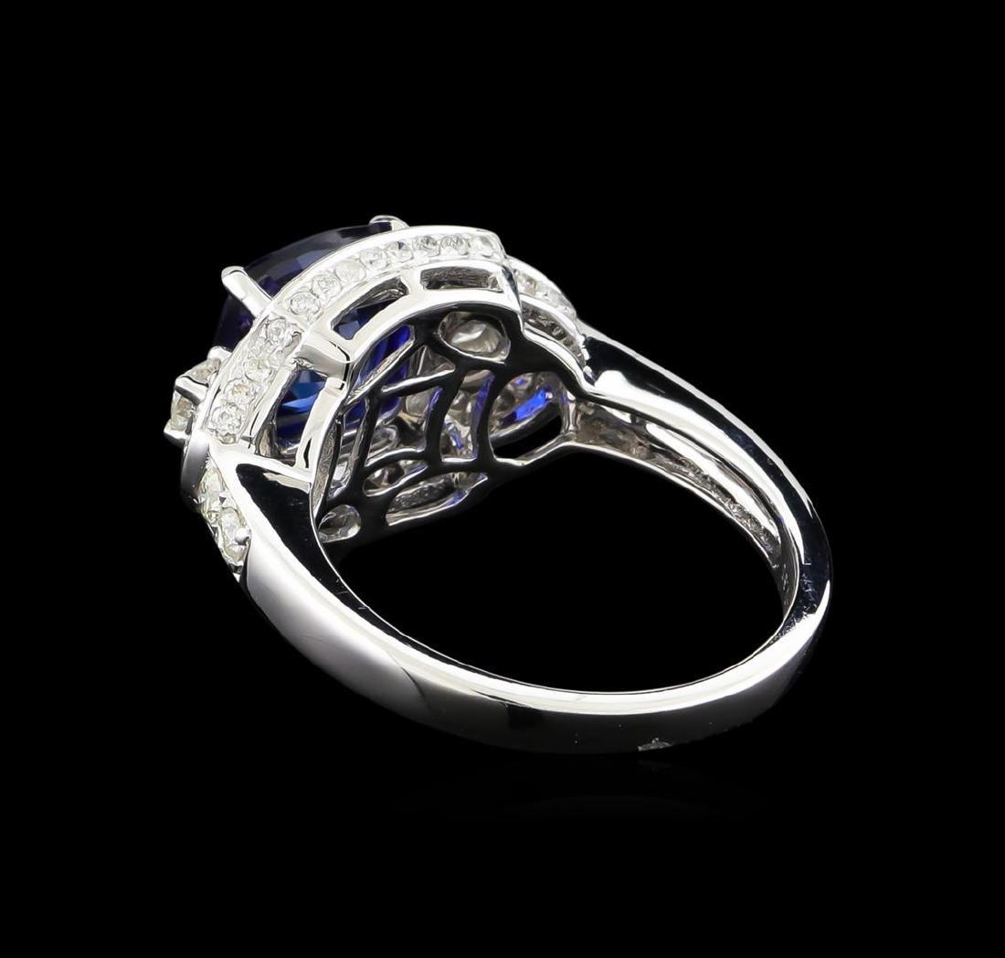 14KT White Gold 2.58 ctw Sapphire and Diamond Ring - 3
