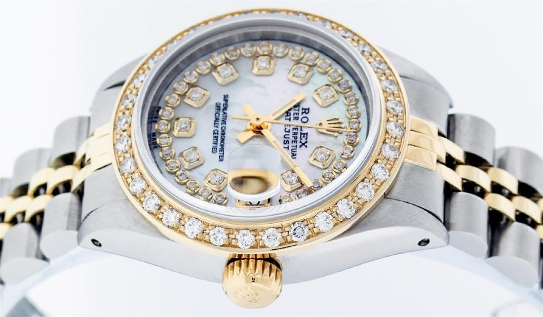 Rolex Ladies 2 Tone 14K MOP String Diamond Datejust - 3