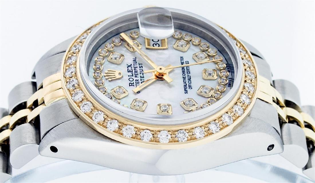 Rolex Ladies 2 Tone 14K MOP String Diamond Datejust - 4