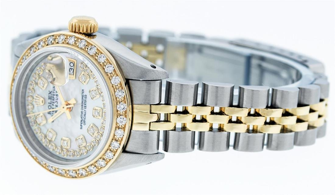 Rolex Ladies 2 Tone 14K MOP String Diamond Datejust - 6