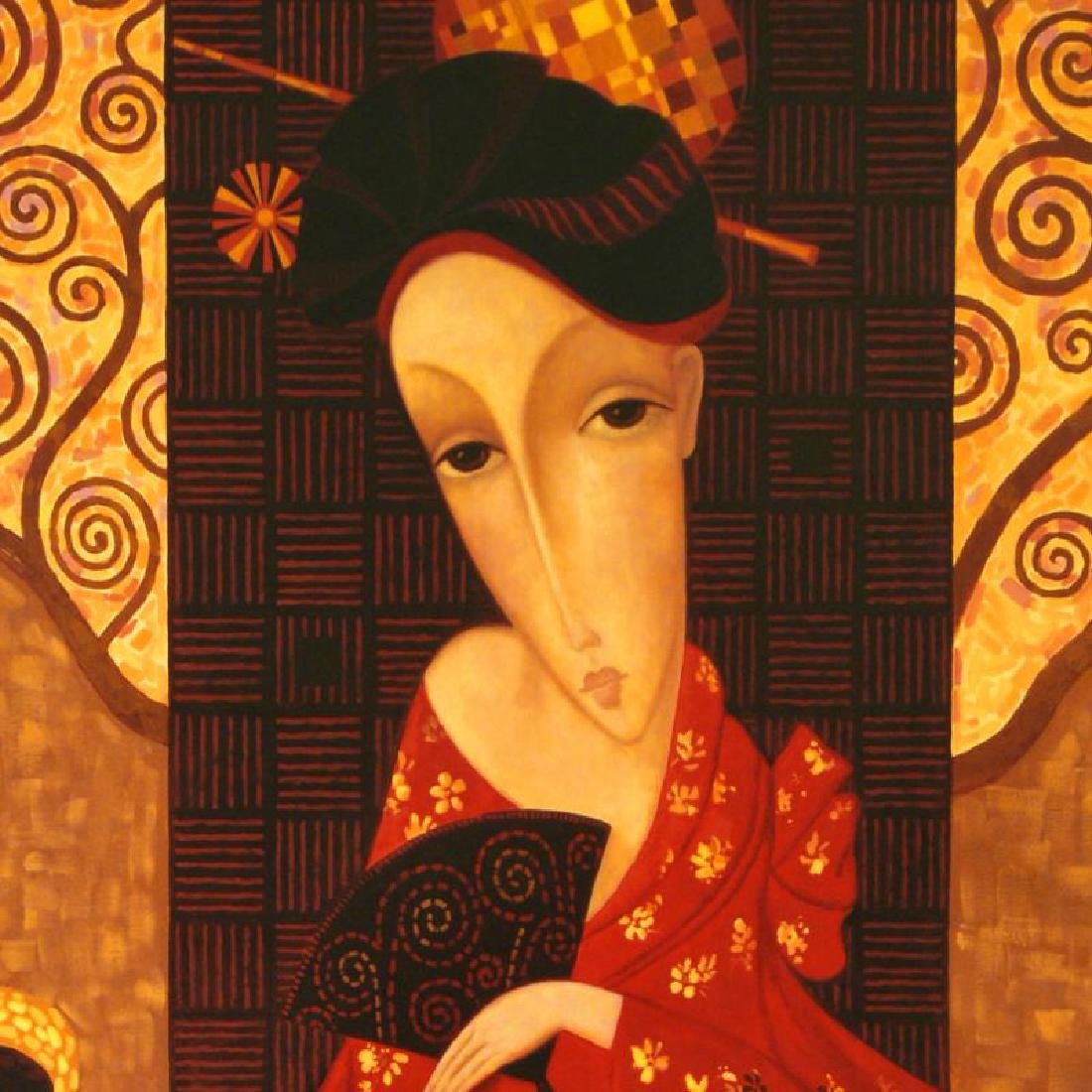 Geisha In Red by Smirnov (1953-2006) - 2