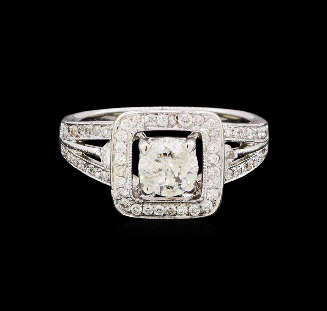 1.58 ctw Diamond Ring - 18KT White Gold - 2