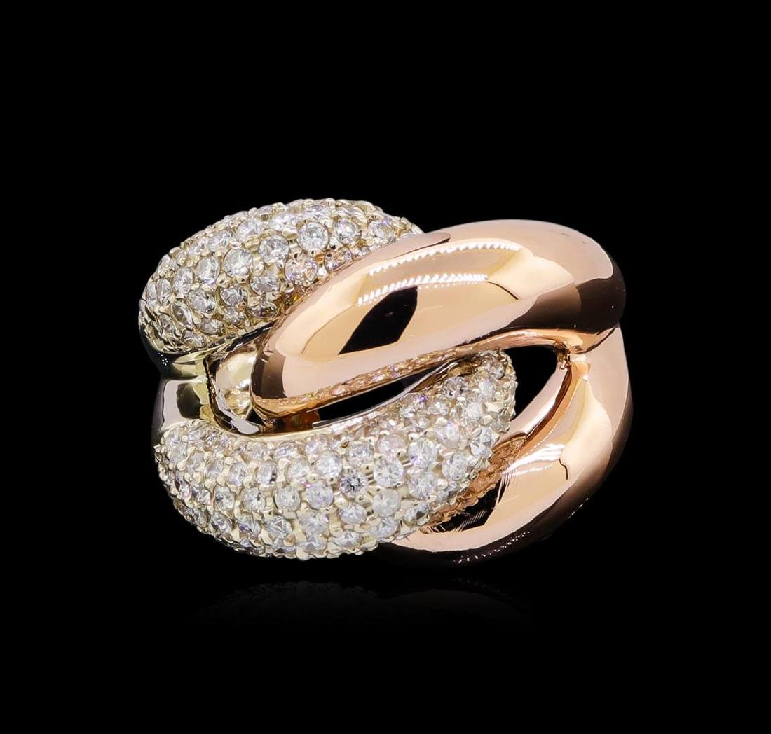 2.53 ctw Diamond Ring - 14KT Two-Tone Gold - 2