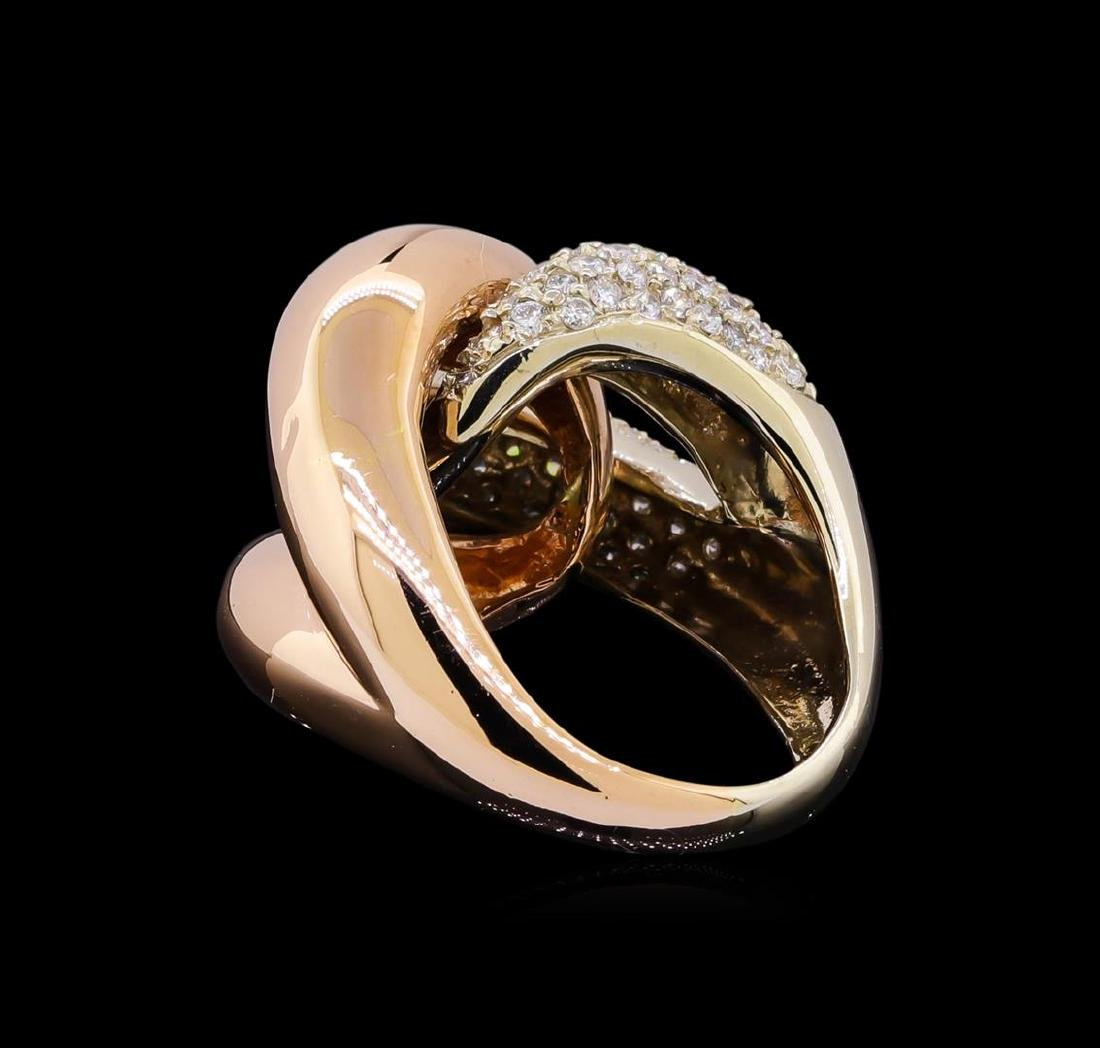 2.53 ctw Diamond Ring - 14KT Two-Tone Gold - 3