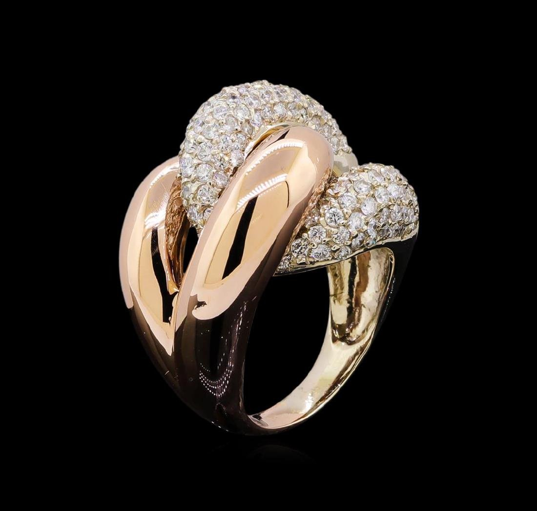 2.53 ctw Diamond Ring - 14KT Two-Tone Gold - 4