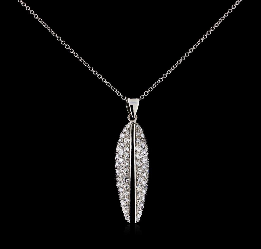 0.82 ctw Diamond Pendant With Chain - 14-18KT White